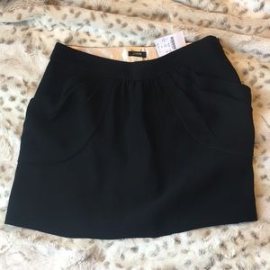 J. Crew black bubble skirt with pockets